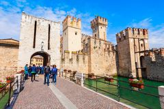 Free Scaligero Castle Aerial View, Sirmione Royalty Free Stock Image - 166238666
