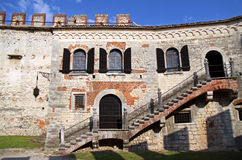 Scaligero Castle on Tenda Hill Royalty Free Stock Image
