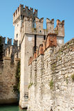 Scaligers castle of Sirmione Stock Image