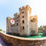 Scaligers castle of Sirmione at Garda Lake. Italy. Stock Images