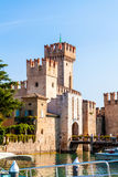 Scaligers castle of Sirmione at Garda Lake. Italy. Stock Photos