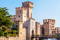 Scaligers castle of Sirmione at Garda Lake. Italy. Stock Image