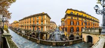 Scalinata台尔Pincio在波隆纳,意大利 免版税库存图片