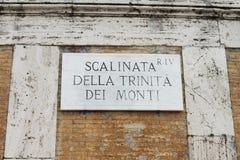 Scalinata della Trinitàdei Monti街道板材,罗马,意大利 免版税库存图片