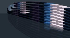 Scaling digital bridge shape stock illustration