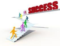 Scaling toward the success Stock Photography