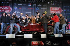 Scalise and Claramunt win the 2012 1000 Miglia Royalty Free Stock Image