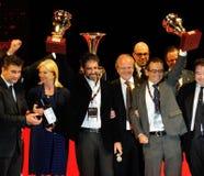 Scalise en Claramunt tonen prijzen 1000 Miglia Stock Foto