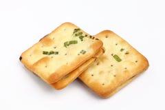 Scallion cookie nougats. On white background royalty free stock images