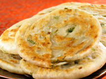 Scallion Pancakes Stock Photography