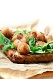 Scallop и сандвич салата Ракеты Стоковые Фото
