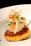 Scallop And Crab Cake Appetizer Stock Photography
