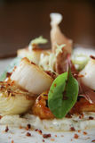Scallop appetizer starter Stock Photos