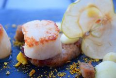 Scallop with Apple Stock Images