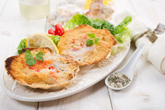 Scallop au gratin Stock Images
