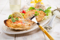 Scallop au gratin Royalty Free Stock Photography