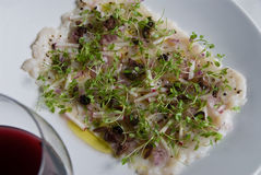 Scallop carpaccio Royalty Free Stock Images