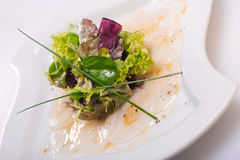 Scallop carpaccio Stock Images