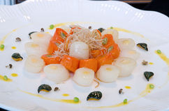 Scallop with carrots Stock Photo