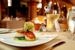 Scallop dinner royalty free stock photography