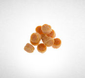 scallop or dried scallop on a background. Royalty Free Stock Image