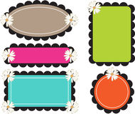 Scallop Edge Frames Retro Bold Royalty Free Stock Images