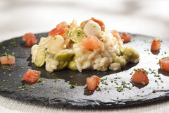 Scallop risotto Royalty Free Stock Photo