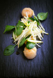Scallop Salad with greenery Royalty Free Stock Photos