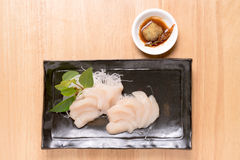 Scallop for sashimi - japanese food style. Scallop for sashimi - japanese food style Stock Photo
