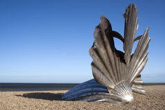 'Scallop' Sculpture on Aldeburgh Beach Royalty Free Stock Images
