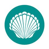 Scallop sea shell. Symbol vector illustration Royalty Free Stock Photography