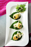 Scallop seafood appetizer Royalty Free Stock Photography