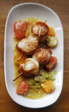 Scallop seafood Stock Photo