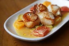 Scallop seafood Stock Photos
