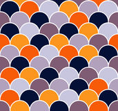 Scallop seamless vector pattern Royalty Free Stock Photos