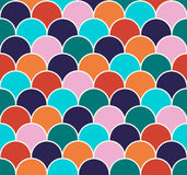 Scallop seamless vector pattern. Abstract colorful fishscale seamless pattern. Vector illustration Stock Photos