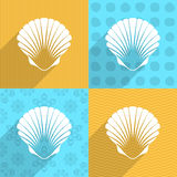 Scallop seashell icon Royalty Free Stock Image