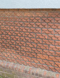 Scallop Shaped Bricks Royalty Free Stock Photography