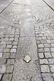 Scallop shell on the floor Royalty Free Stock Photos