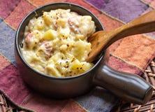 Scalloped картошки и ветчина Стоковые Изображения