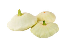Scalloped custard squash (Cucurbita pepo var. patisson) Stock Image