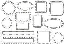 Scalloped frames Stock Image