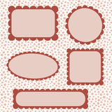 Scalloped frames Royalty Free Stock Photo