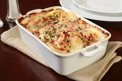 Scalloped potato casserole Stock Images