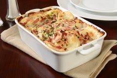 Scalloped potato casserole Stock Images