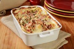 Scalloped potato casserole Stock Photography