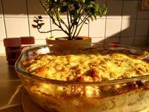 Scalloped potato gratin stock photos