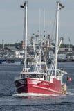 Scalloper Capt Jesse gående fiska fotografering för bildbyråer