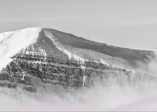 Scallops пульсации ветра на снеге Стоковые Изображения RF
