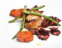 Scallops with bacon Royalty Free Stock Photo